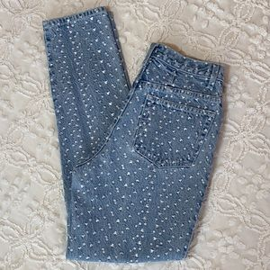 Vintage NY Jeans High Waist Embroidered Mom Jeans